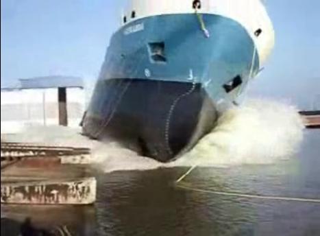 Спуск корабля