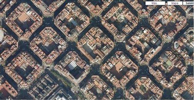 Квадратно-гнездовая планировка.Eixample, Барселона