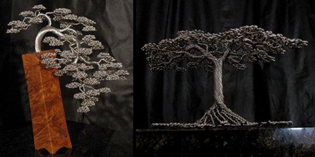 Деревья из толстой проволоки своими руками фото