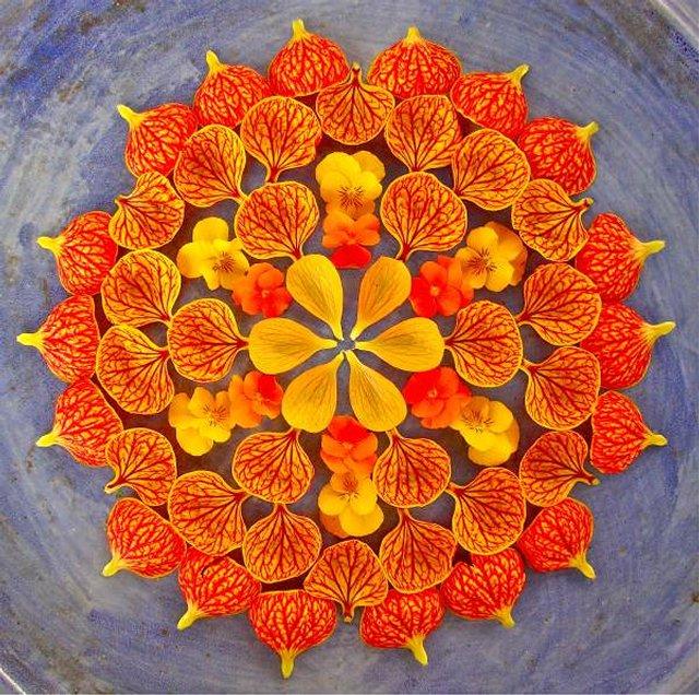 Цветочная мандала-данмала