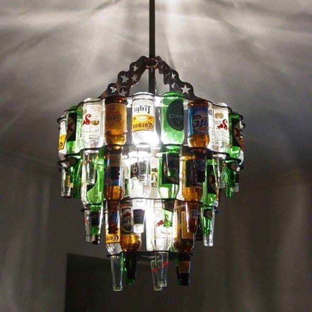 Бутылка как источник света