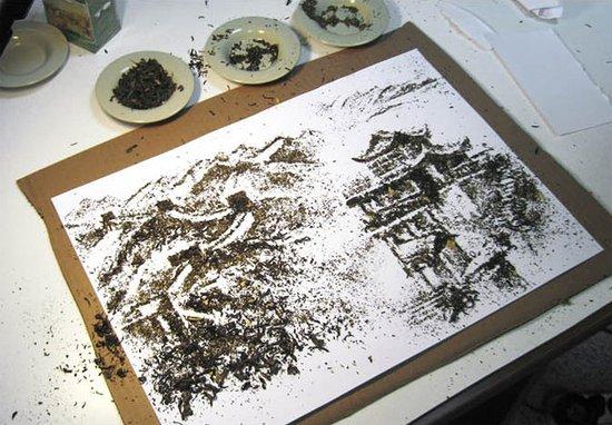 Иллюстрации из чая